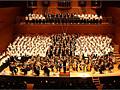 Концерт Всеяпонского сводного хора из 250 человек и  знаменитых японских барабанщиков