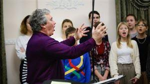 Детский хор В. С. Попова записывает диск для детей