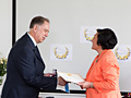 Вручение Московской консерватории Золотой медали за заслуги в области культуры