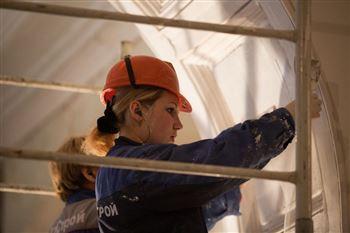 В Большом зале консерватории идет последний этап реставрационных работ