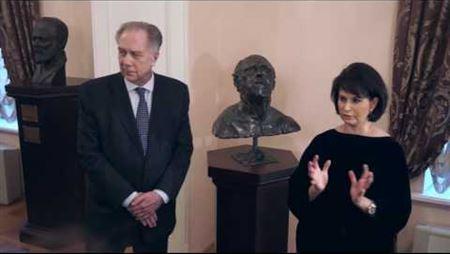 Передача в дар консерватории бюста М. Л. Ростроповича