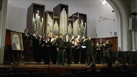 Valery Kikta. A piece for flute, baritone and chorus