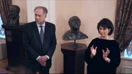 The Ceremony of donating the bust of Mstislav Rostropovich to the Moscow Conservatory