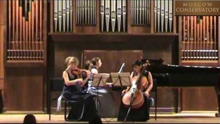 А. Бабаджанян. Трио для скрипки, виолончели и фортепиано: часть 1. Исполняет «Русское трио»