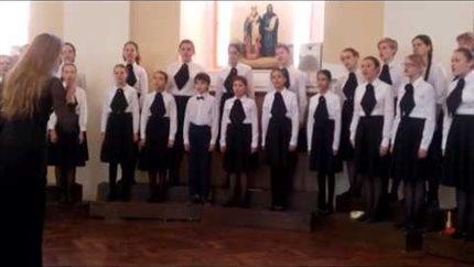 Детский хор Сектора педагогической практики на  конкурсе «Кирилл и Мефодий»