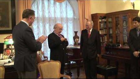 Награждение медалью Г. Рождественского