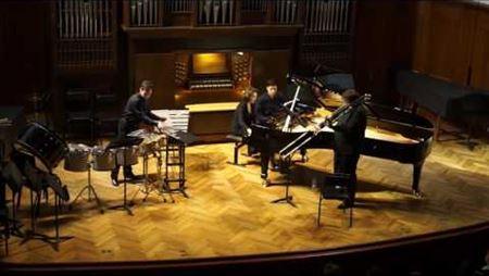 Stephen Rush. «Rebellion» for trombone, piano and multi percussion