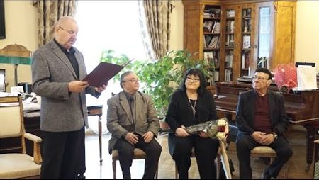 Celebrating the jubilees at the Solo Singing Division: Professors Makvala Kasrashvili, Zurab Sotkilava and Alexey Martynov