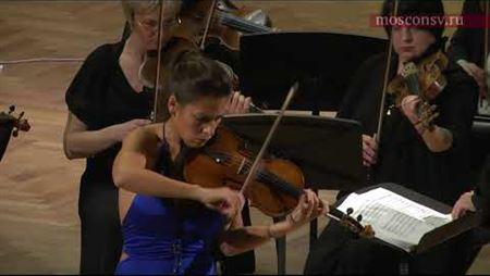 Laetitia Moreno (Spain) with <i>Musica Viva</i> Orchestra at the Moscow Conservatory