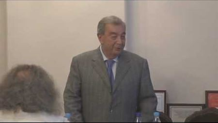 Evgeny Primakov Is Speaking at the Meeting of the Board of Trustees