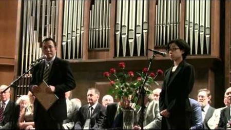 The Knowledge Day at the Moscow Conservatory, 2011. Toru Sarui Is Speaking