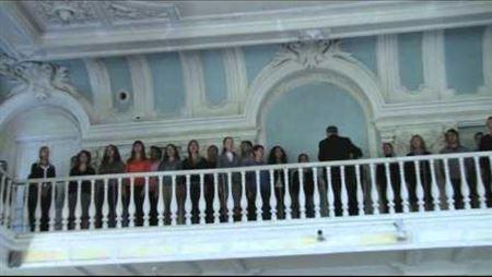 Торжественное собрание 1 сентября 2010 г. Гимн России