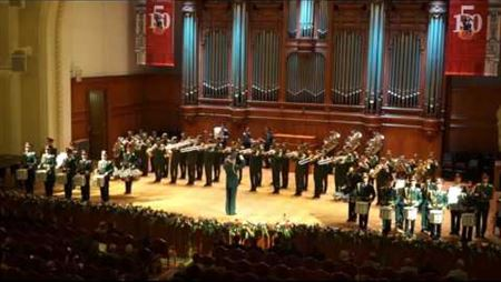 On the 150th anniversary of the Moscow Conservatory. Military University students orchestra