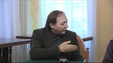 Press conference about the competition for the composing of music for the ballet Chaplin. Vladimir Tarnopolsky