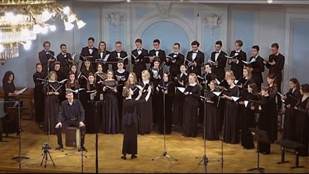 Choral practice of the fourth- and fifth-year students