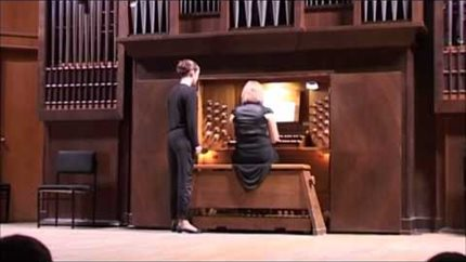 J. S. Bach. Prelude and Fugue in E minor for organ. Perf. by Olesya Kravchenko