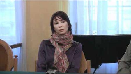 Пресс-конференция к конкурсу на написание музыки к балету «Чаплин». М. Александрова
