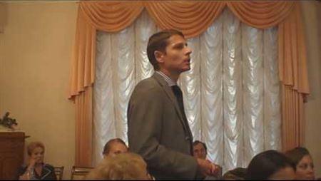 Alexander Averyanov Is Speaking at the Meeting of the Board of Trustees