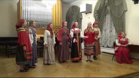 A fragment of the Russian folklore music concert