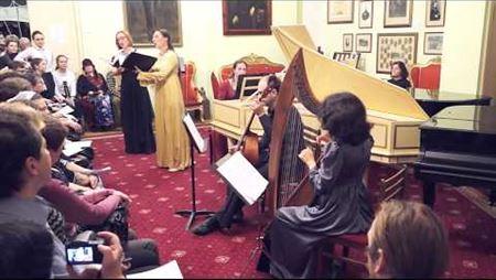 C. Monteverdi. «Zefiro torna e di soavi accenti» («Scherzi musicali», 1632)
