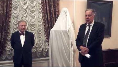 Торжественная церемония передачи в дар Консерватории бюста Льва Оборина
