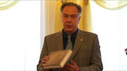 Prof. Alexander Sokolov at the conference dedicated to Yuri Kholopov's 80th anniversary