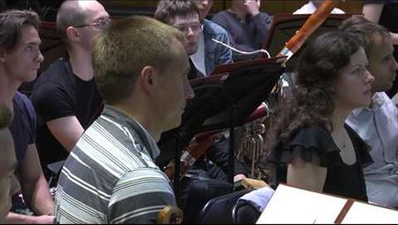 A fragment of the master class taught by Vasily Petrenko