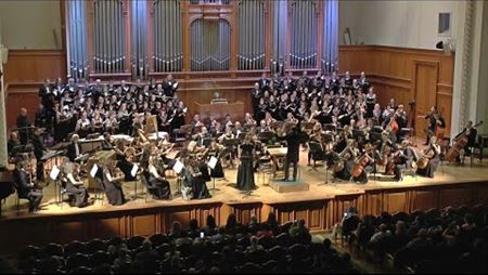 "Alexander Klevitsky. ""Fly!"" Cantata for soprano, organ, choir and orchestra"