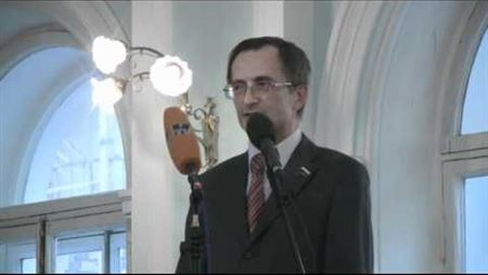 N. V. Levichev Is Speaking at the Ceremonial Meeting on 1 September 2010