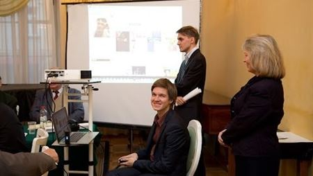 Presentation of the Splayn social network at a meeting of the Music Society of Moscow