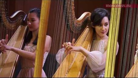 <i>Spanish folk music</i> Harp ensemble of Emilia Moskvitina