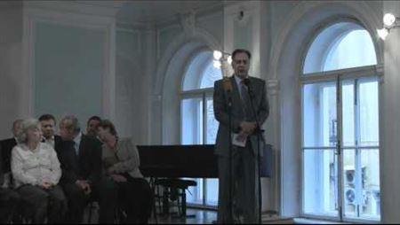 Поздравление директора библиотеки Э. Б. Рассиной