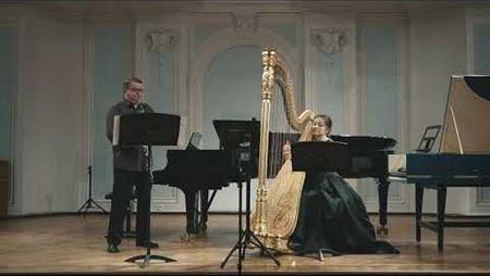 Антонио Паскулли Посвящение Беллини для английского рожка и арфы