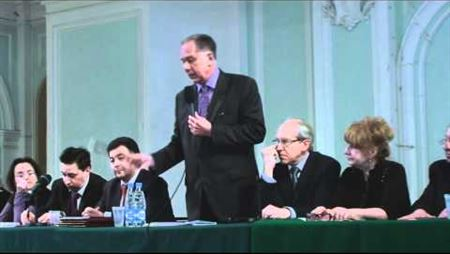 А. С. Соколов на совместном заседании Учёных советов