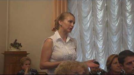 Выступление А. Сахно на Попечительском совете
