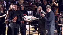 The Giving of a Memorable Gift to Teodor Currentzis from Moscow Conservatory